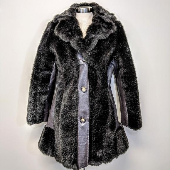 Jackets & Blazers - Faux Fur & Leather Coat